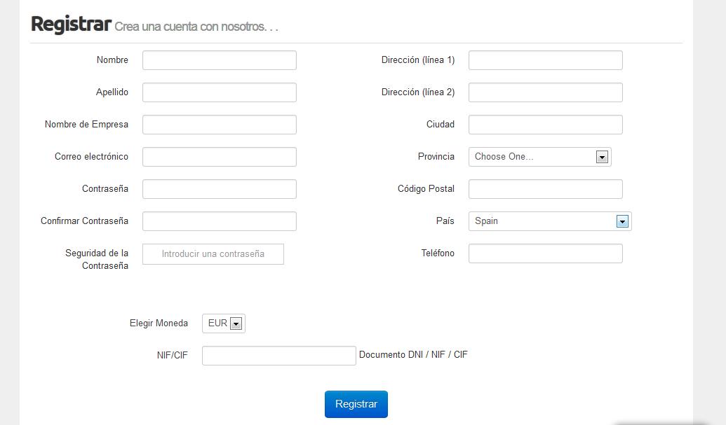 Datos Registro HostingTG