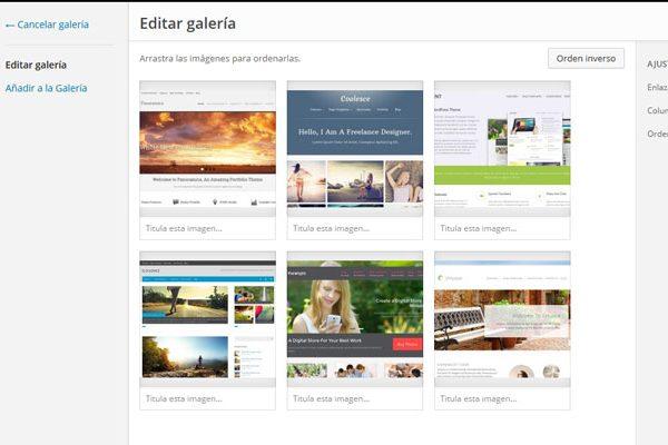 Cómo preparar una galería de imágenes en WordPress